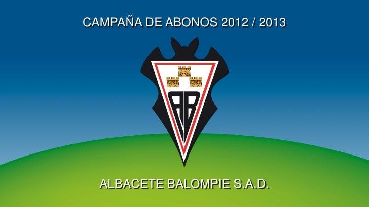 Albacete campaña de abonados