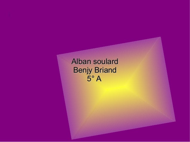 Alban soulardAlban soulard Benjy BriandBenjy Briand 5° A5° A en