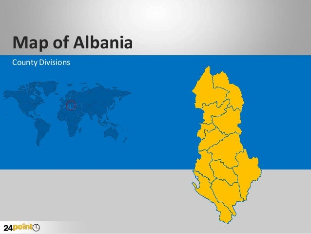 Map of Albania County Divisions