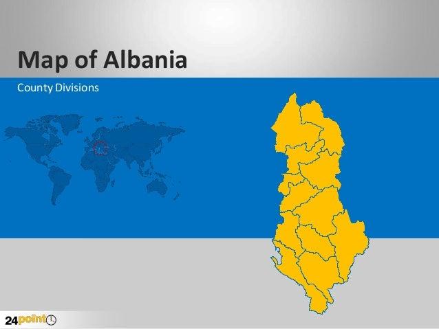 PPT Slide on Albania Map
