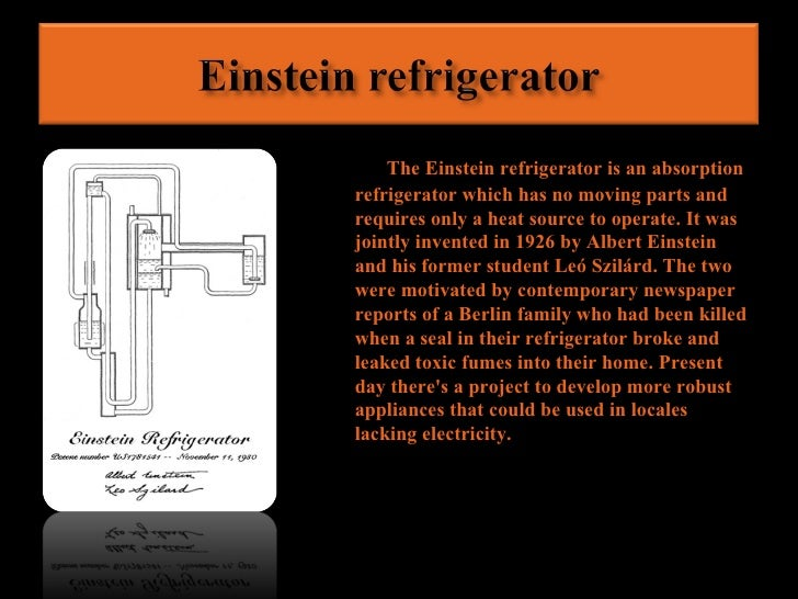 Albert Einstein Invention Of The Refrigerator | www ...