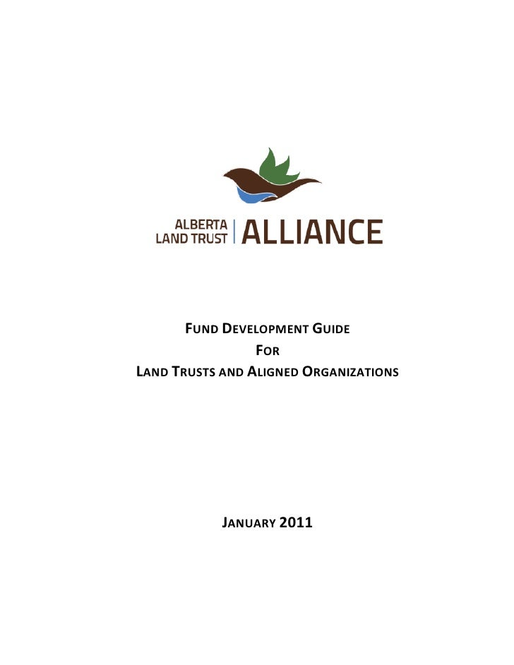 The Alberta Land Trust Alliance thanks the Alberta Real Estate Foundation for the generous                                ...