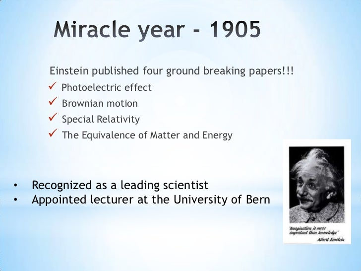 List of scientific publications by Albert Einstein