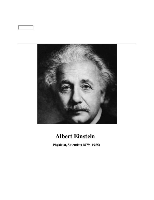 profile albert einstein