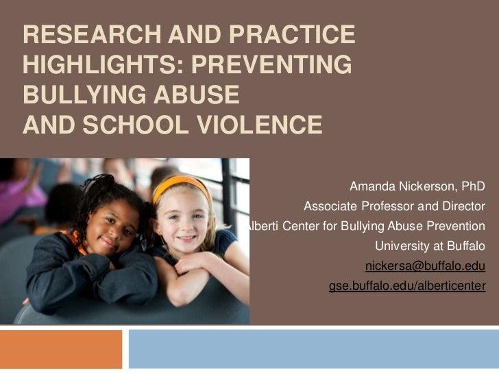Alberti Center Sample Presentation for Educators and Professionals
