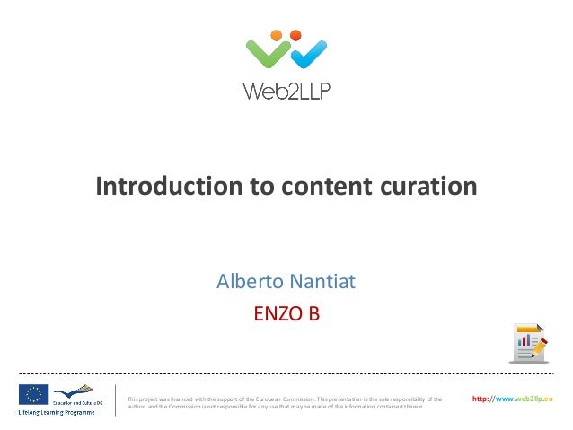 Session 4: Alberto Nantiat (ENZO B) - Session 4: Sharing online content