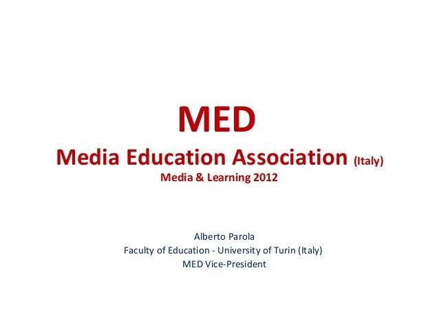 M&L 2012 - Media Education Association - by Alberto Parola