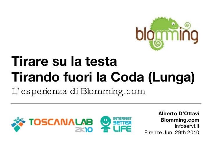 Tirare su la testa Tirando fuori la Coda (Lunga) L'esperienza di Blomming.com <ul><li>Alberto D'Ottavi </li></ul><ul><li>B...