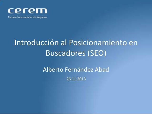 Alberto Fernández - Posicionamiento en Buscadores SEO
