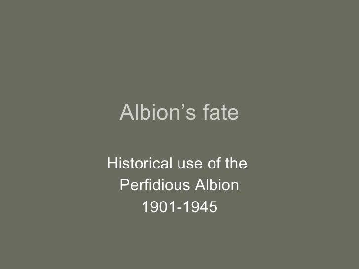 Albion'S Fate