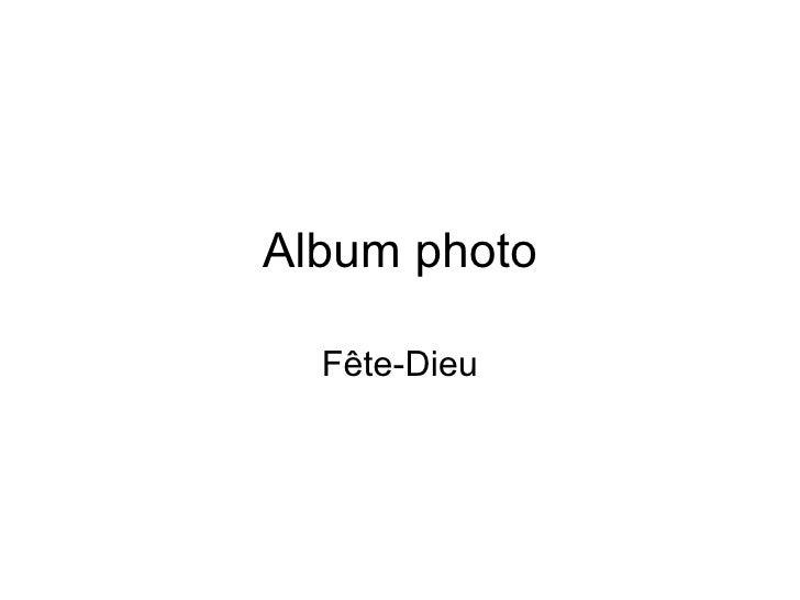 Album photo Fête-Dieu