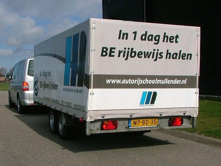 BE rijbewijs halen bij Autorijschool Mullender, rijschool Leeuwarden