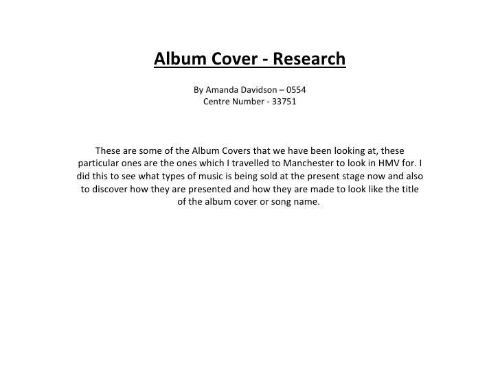 Album Cover - Research