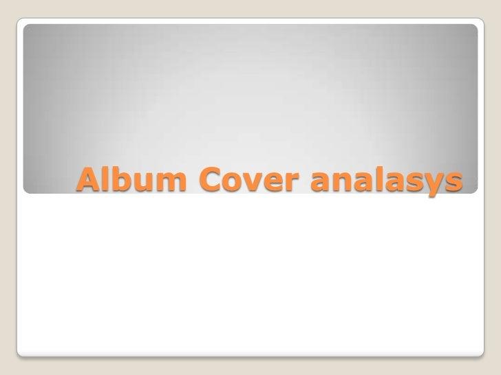Album Cover analasys