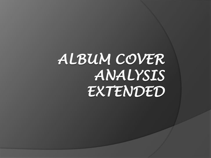 Album cover analysis extended