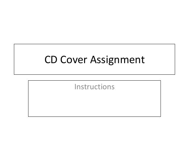 CD Cover AssignmentInstructions