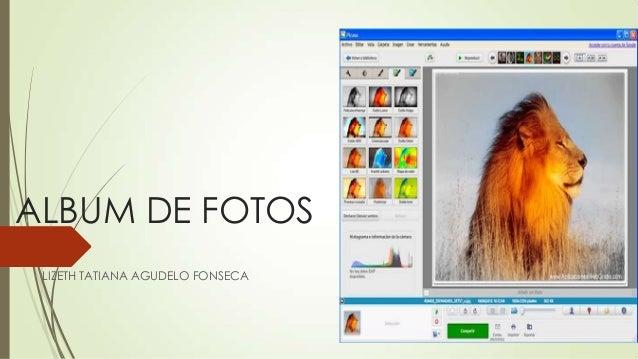 ALBUM DE FOTOS LIZETH TATIANA AGUDELO FONSECA