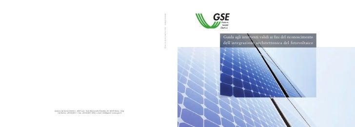 Guida agli interventi validi ai fini del riconoscimento dell'integrazione architettonica del fotovoltaico