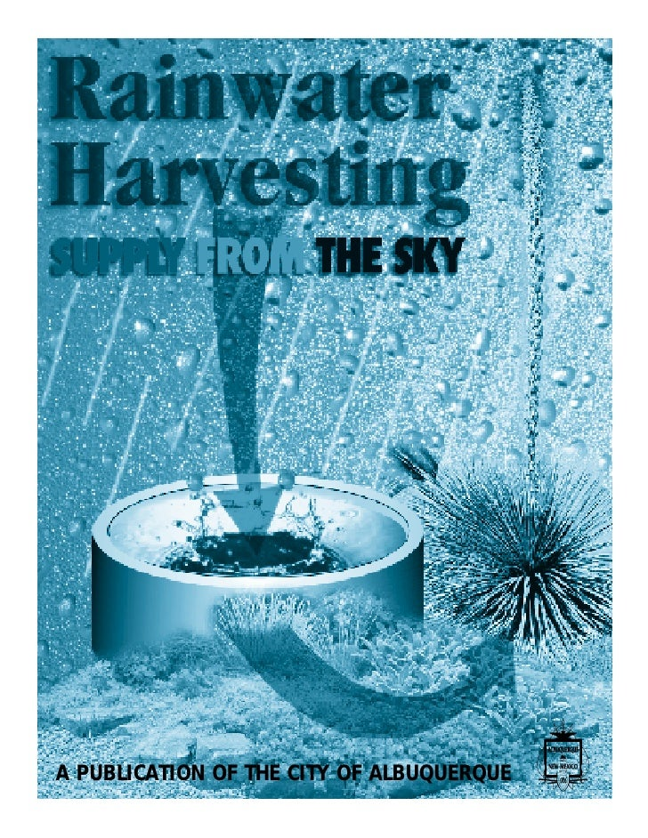 Albuquerque New Mexico Rainwater Harvesting Manual
