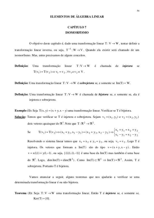 Algebra Linear cap 07