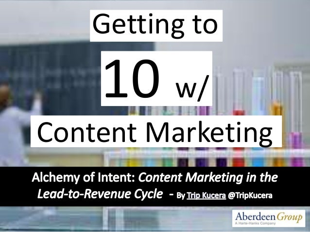 Getting to 10 w/ Content Marketing