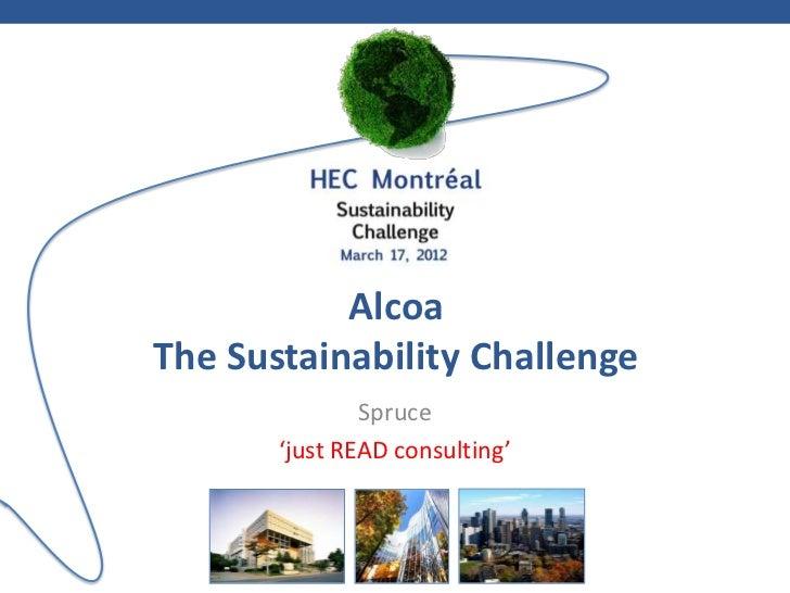 Alcoa HEC Sustainability Challenge