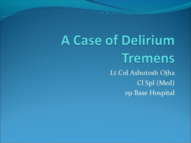 Alcohal withdrwal syndrome-Inpatient Management ppt