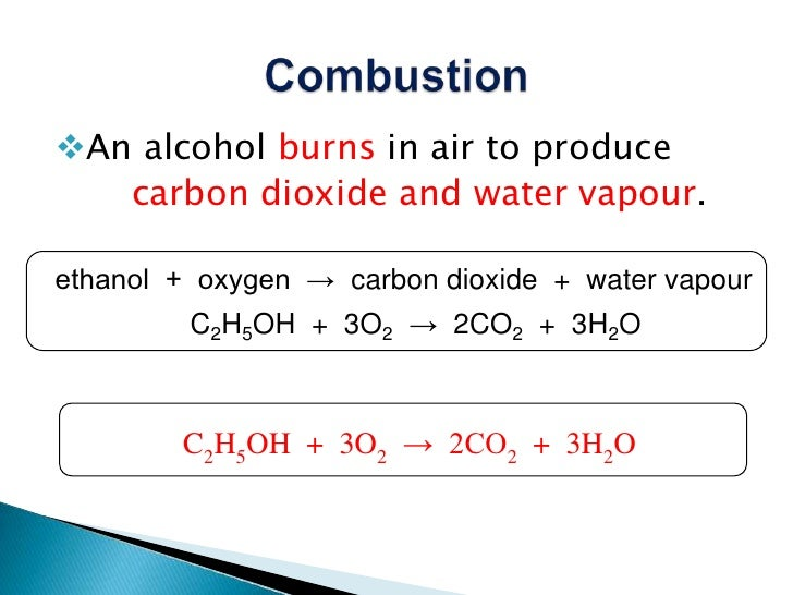 combustion of alcohols The flammability of alcohols decrease as the size and mass of the molecules increases combustion breaks the covalent bonds of the molecules, so as the size and mass of the molecules increases, there are more covalent bonds to break in.