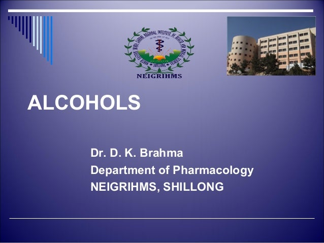 Pharmacology of Alcohol