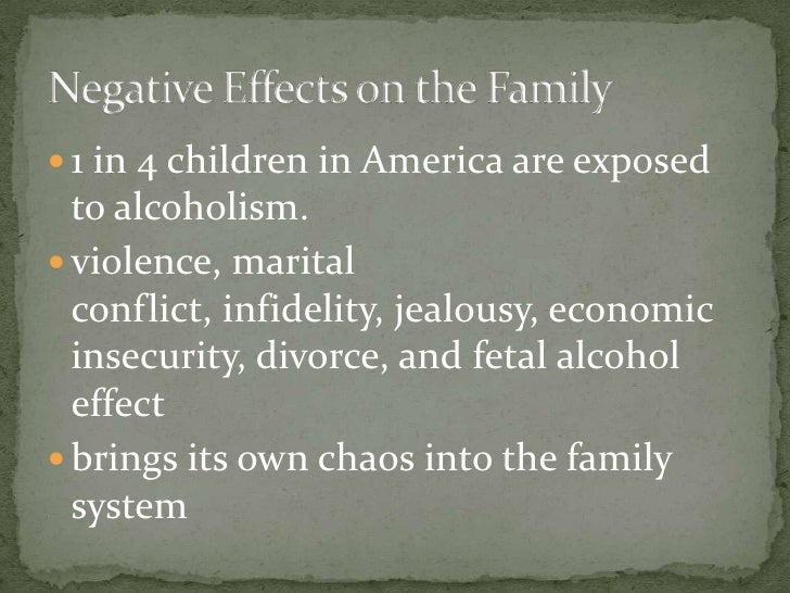 a look at children and family of alcoholics Dysfunctional family roles: growing up with addiction june 4 let's take a look at some of the dysfunctional family roles children may take on to cope with the stress of alcoholism and drug addiction in the home adult children of alcoholics addicts.