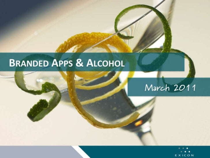 Branded Apps and Alcohol