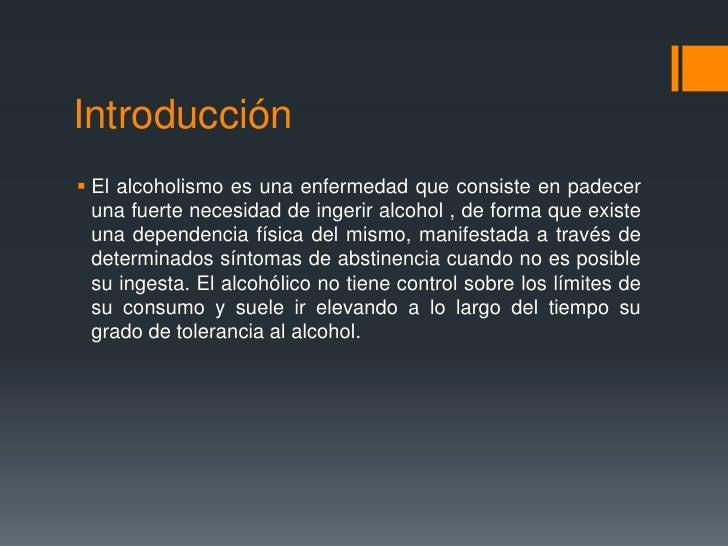 La codificación del alcohol para un mes