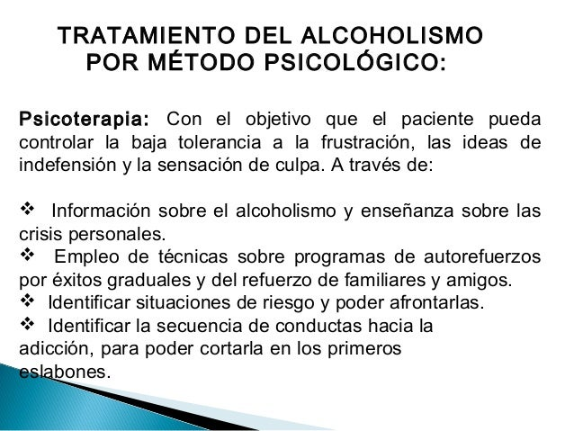 La fase clínica del alcoholismo