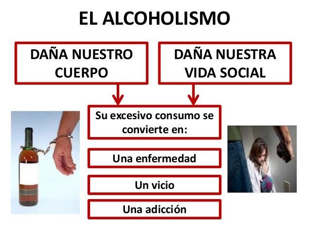 La consecuencia del alcoholismo de la foto