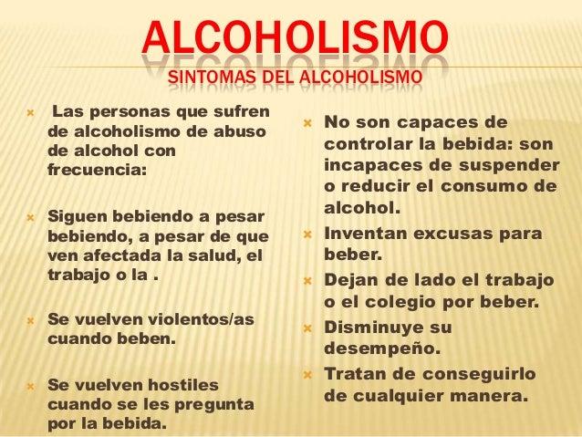 Determinar la dependencia del alcohol