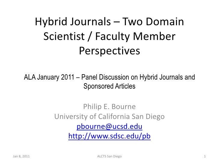 ALA Presentation - Hybrid Journals Jan. 8, 2011