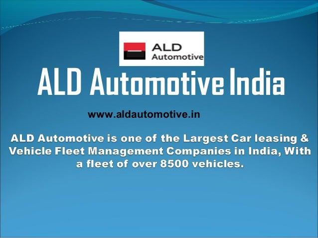 ALD AutomotiveIndia www.aldautomotive.in