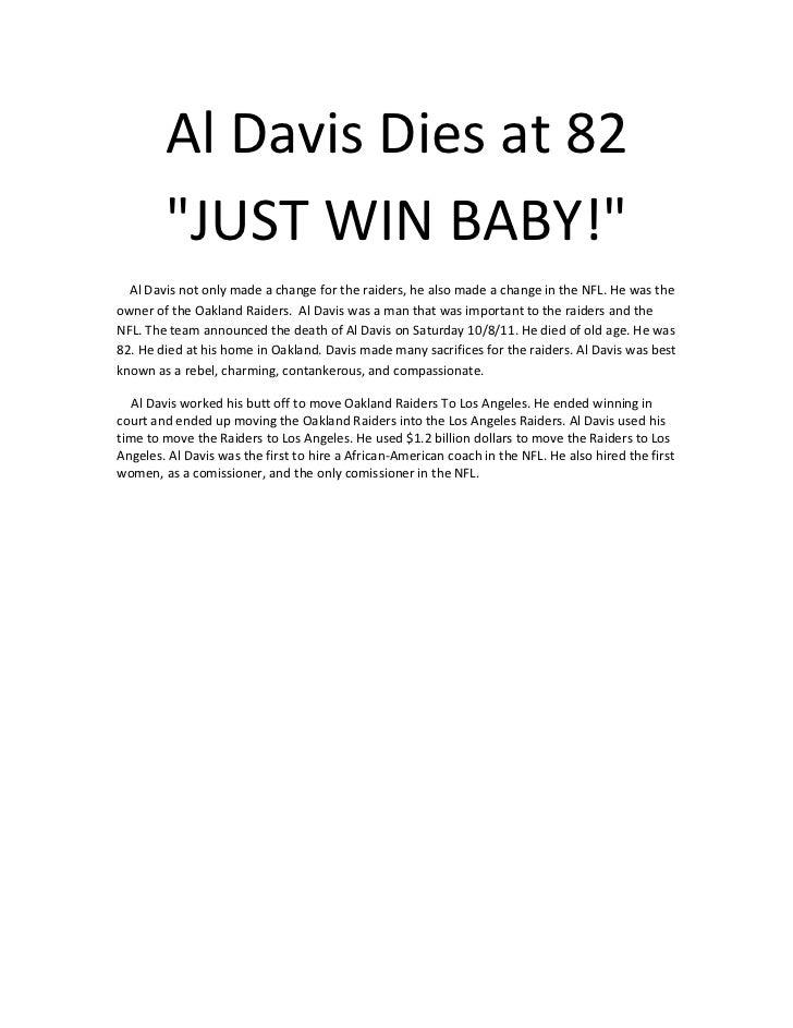Al davis dies at 82