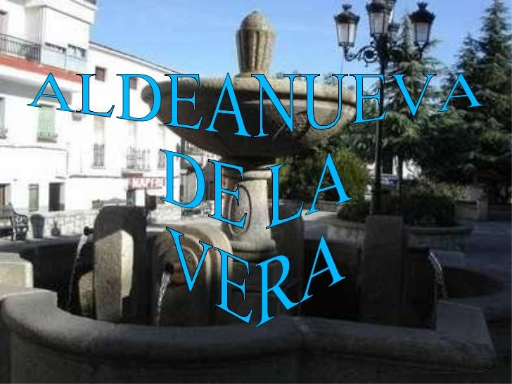 ALDEANUEVA  DE LA  VERA