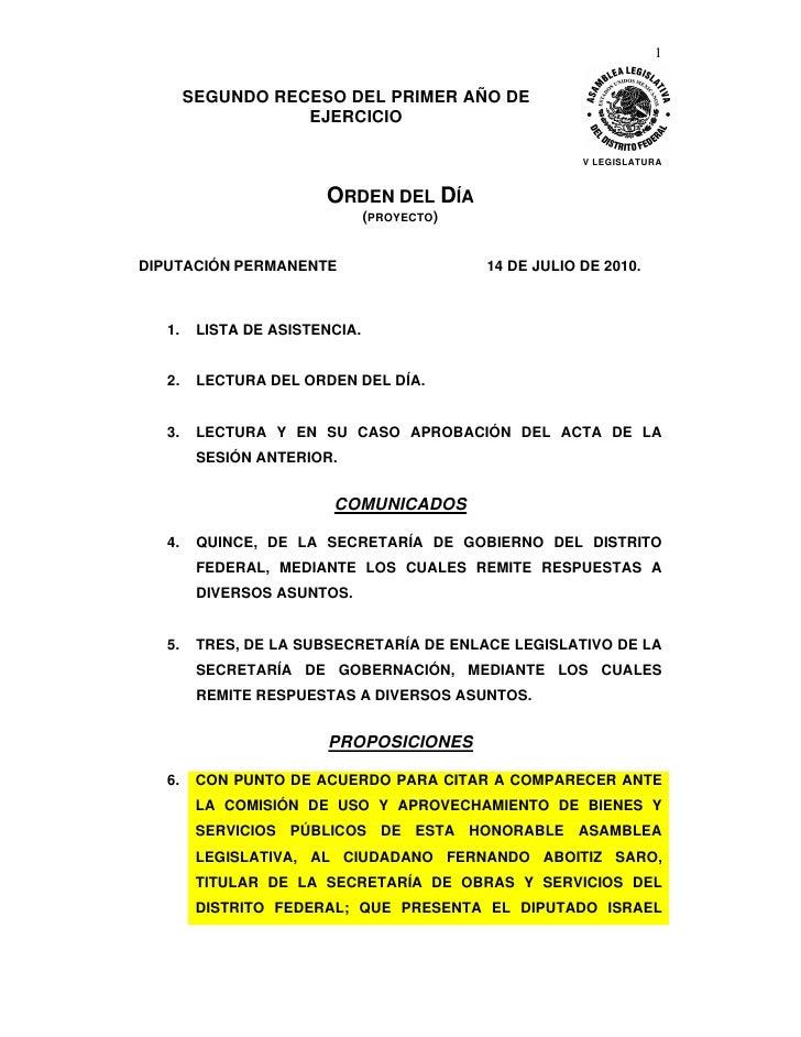 1           SEGUNDO RECESO DEL PRIMER AÑO DE                    EJERCICIO                                                 ...