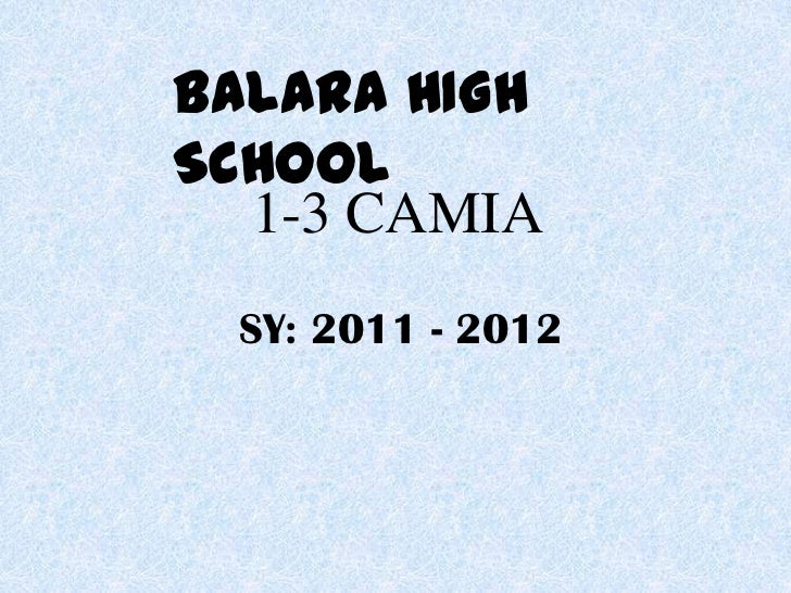 I-3 Camia yearbook S.Y. 2011-2012