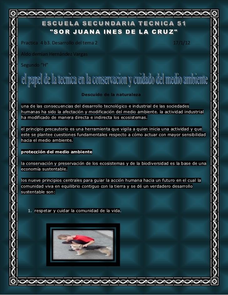 """Practica 4 b3. Desarrollo del tema 2                                      17/1/12Aldo demian Hernández VargasSegundo """"H""""  ..."""
