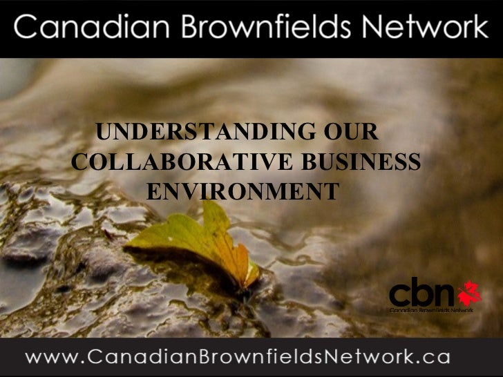 UNDERSTANDING OURCOLLABORATIVE BUSINESS    ENVIRONMENT                    1