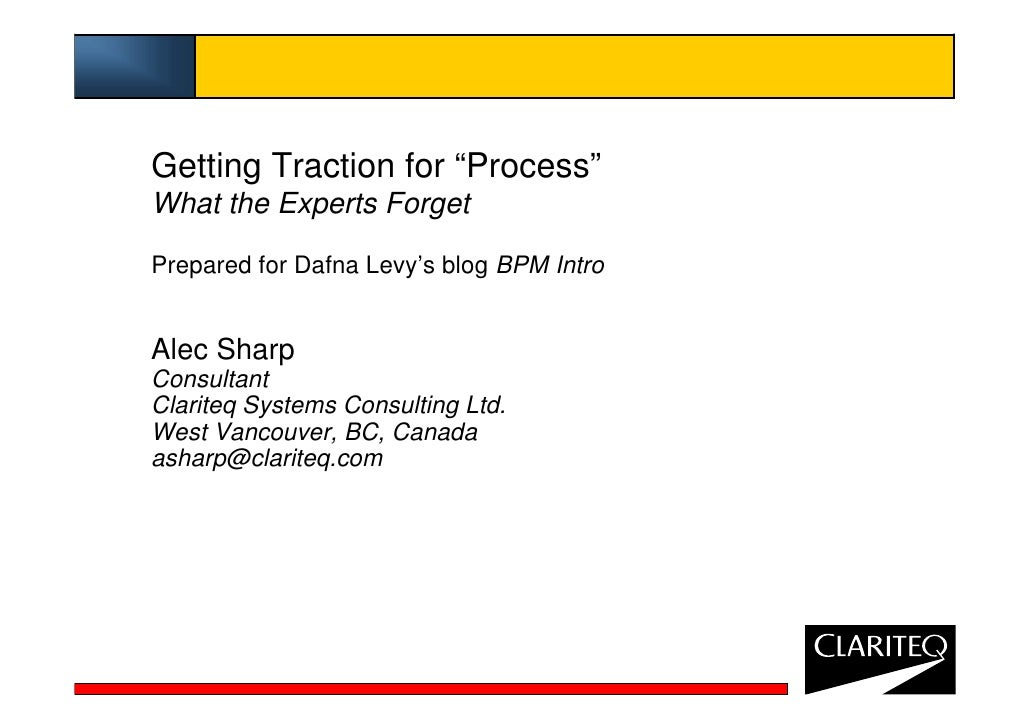 Alec Sharp Process Traction
