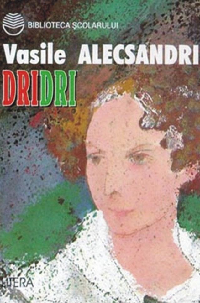 Alecsandri vasile   dridri (cartea)