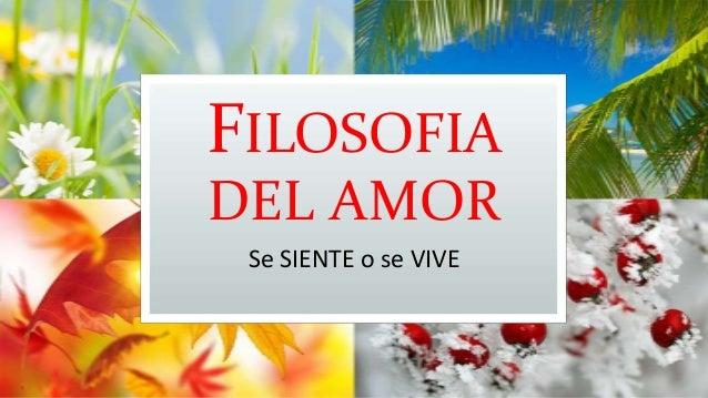 Filosofia del amor