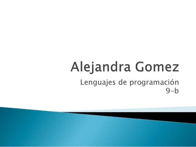 Lenguajes de programación 9-b