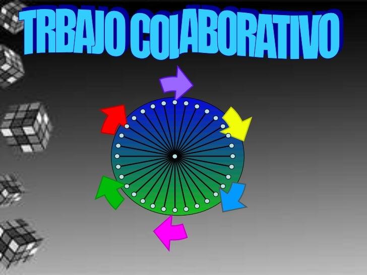 El trabajo colaborativo se define como aquellos procesos intencionales de un                    grupo para alcanzar objeti...