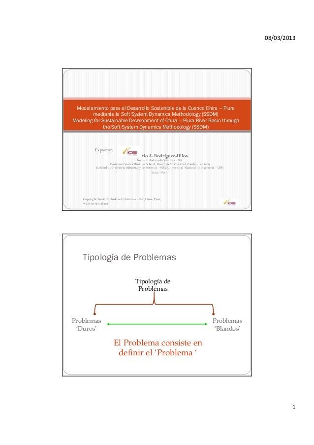 08/03/2013 Modelamiento para el Desarrollo Sostenible de la Cuenca Chira – Piura        mediante la Soft System Dynamics M...