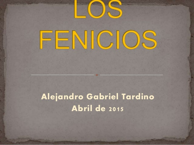 Alejandro Gabriel Tardino Abril de 2015